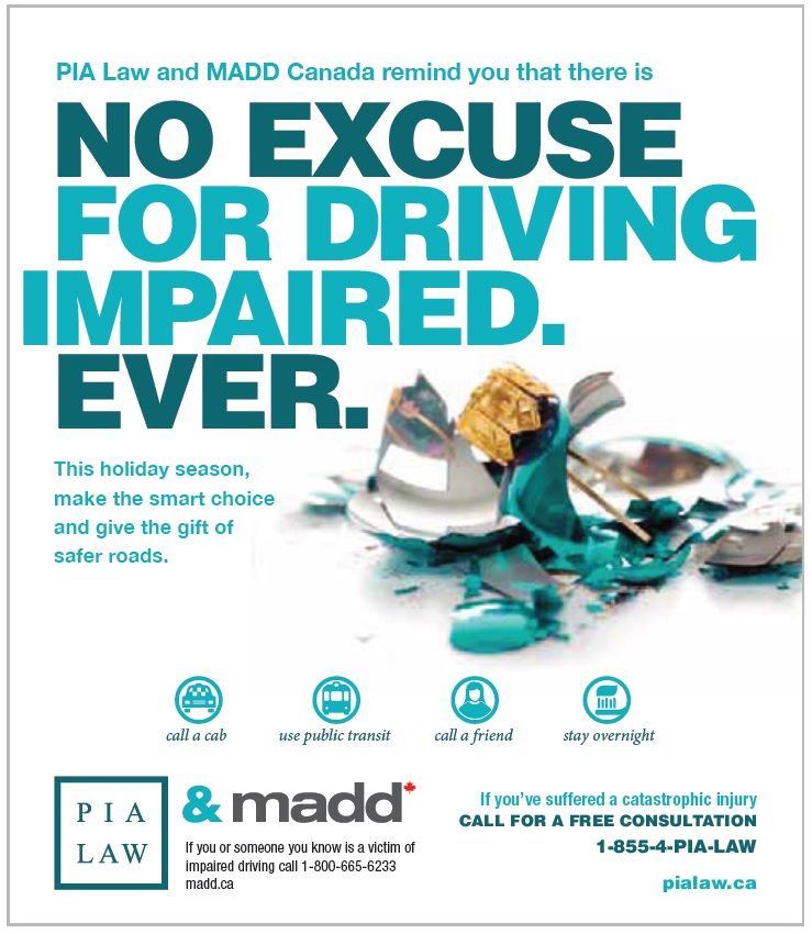 MADD Canada | PIA Law Remind You not to Drink and Drive | McLeish Orlando Personal Injury Lawyers Toronto