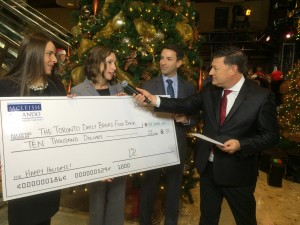McLeish Orlando Donates Ten Thousand Dollars to The Daily Bread Food Bank's Annual Food Drive
