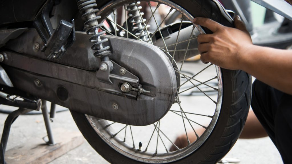 Motorcycle tire repair