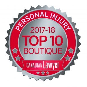 MCLEISH ORLANDO NAMED IN CANADIAN LAWYER MAGAZINE'S 2017 TOP 10 PERSONAL INJURY LAW FIRMS