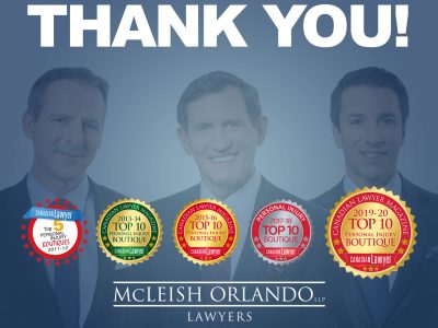 McLeish Orlando Recognized Again as Top 10 Personal Injury Law by Canadian Lawyer Magazine