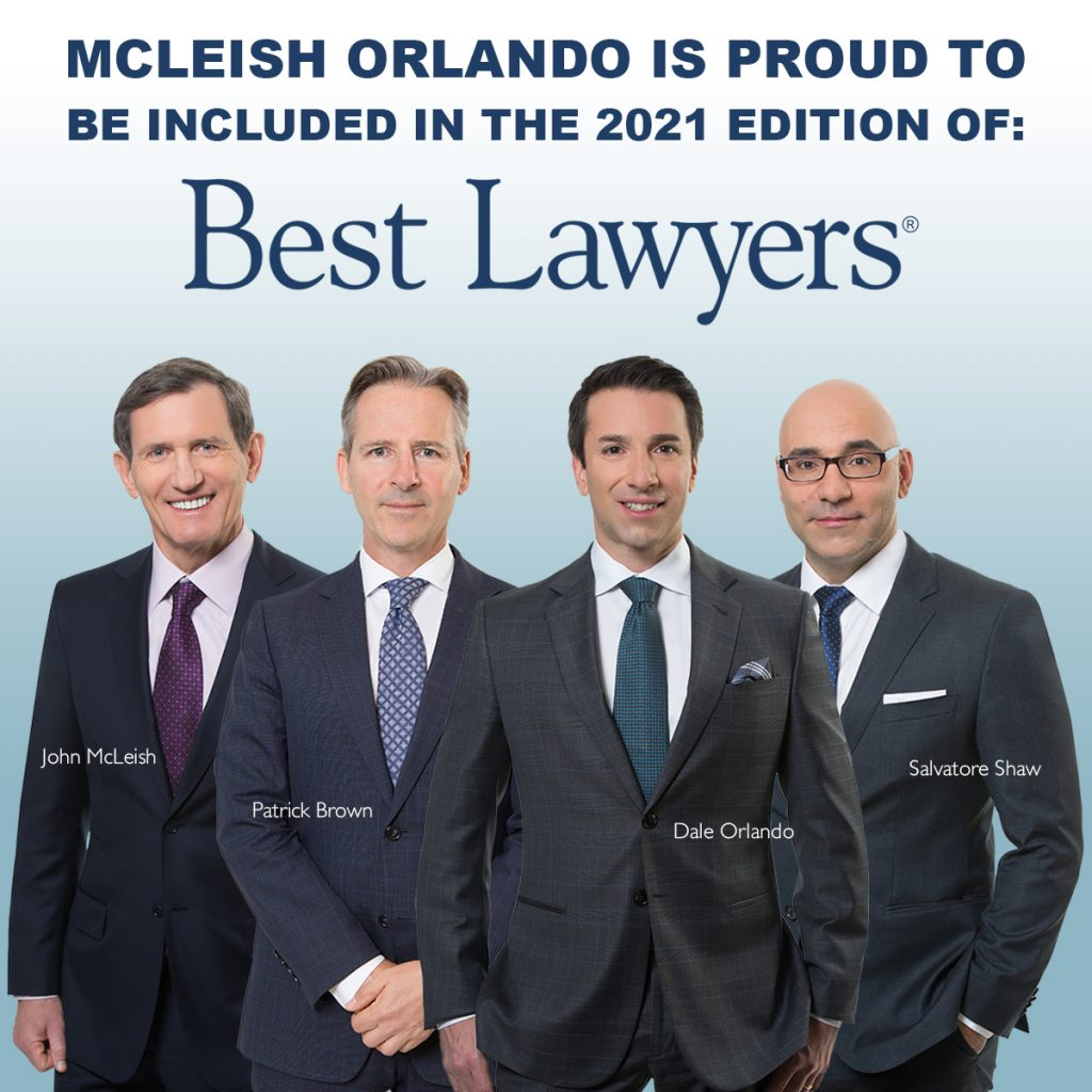 2021 Best Lawyers® List | McLeish Orlando Personal Injury Lawyers