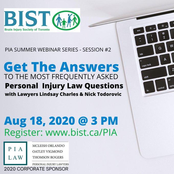 PIA Summer Webinar Series | McLeish Orlando Personal Injury Lawyers