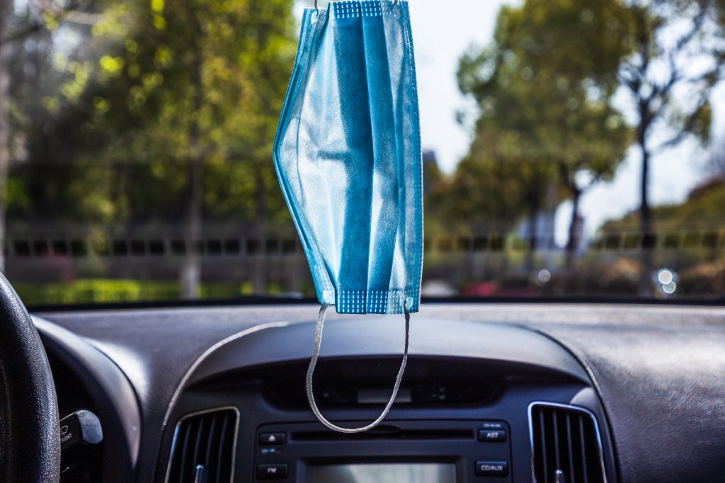 Why Hanging Your Mask From Your Rearview Mirror is a Bad Idea | McLeish Orlando Personal Injury Lawyers