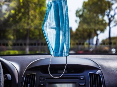 Anywhere But Your Rearview Mirror:  Why hanging your mask from your rearview mirror is a bad idea