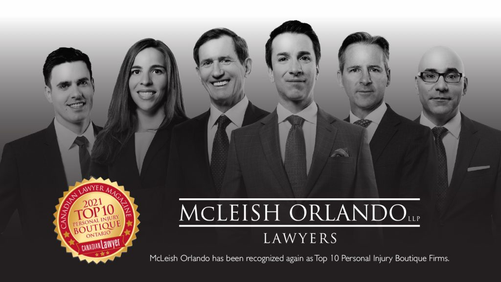 McLeish Orlando Recognized Again as Top 10 Personal Injury Boutique Firms by Canadian Lawyer Magazine